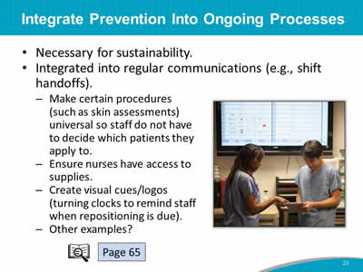 Integrate Prevention Into Ongoing Processes