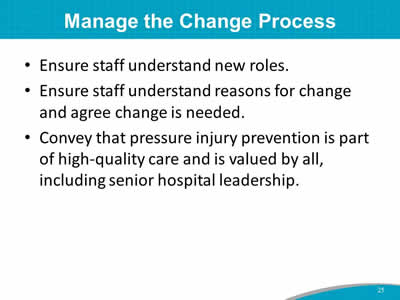 Manage the Change Process