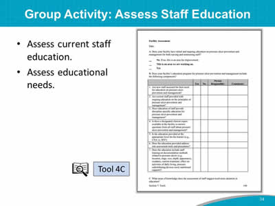 Group Activity: Assess Staff Education
