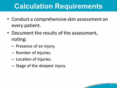Calculation Requirements