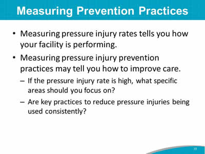 Measuring Prevention Practices