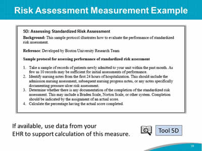 Risk Assessment Measurement Example