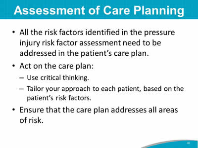 Assessment of Care Planning