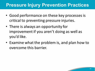 Pressure Injury Prevention Practices