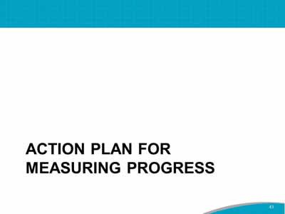 Action Plan for measuring progress
