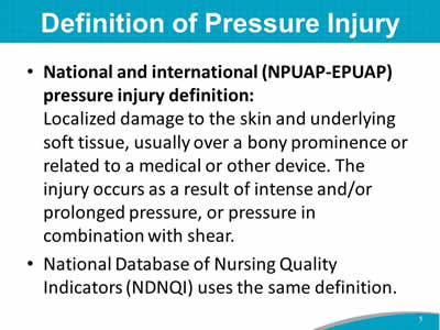 Definition of Pressure Injury
