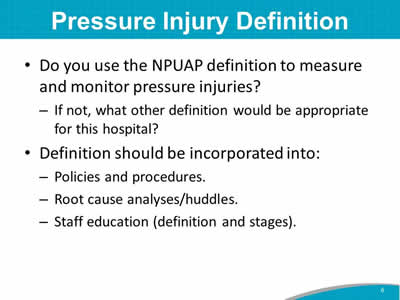 Pressure Injury Definition