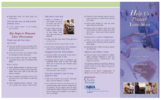 Image shows a copy of the booklet titled 'Help Us Protect Your Skin.'