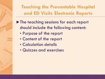 AHRQ's Safety Program for Nursing Homes: On-Time Preventable