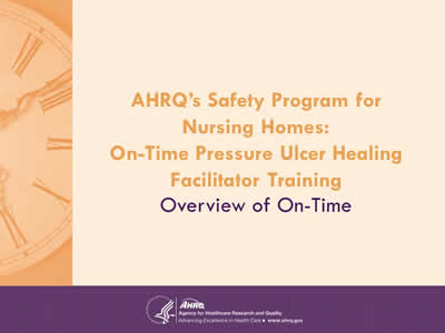 AHRQ's Safety Program for Nursing Homes: On-Time Pressure Ulcer Healing Facilitator Training - Overview of On-Time.