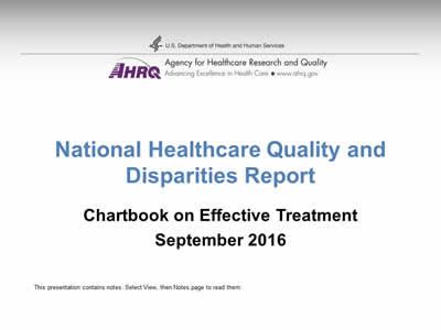 Chartbook On Effective Treatment Slide Presentation Agency For