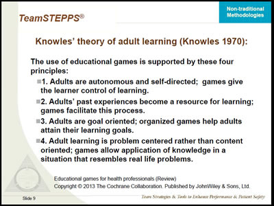 adult learning theory applications to non traditional