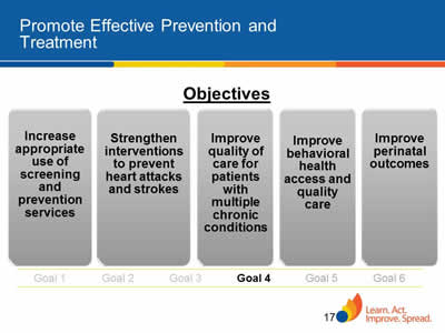 Slide 17. Promote Effective Prevention and Treatment
