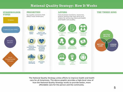 Slide 5. National Quality Strategy: How It Works,