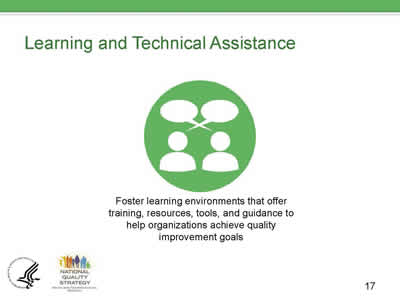 Slide 17. Learning and Technical Assistance.