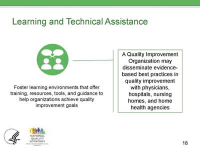 Slide 18. Learning and Technical Assistance.