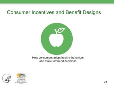 Slide 21. Consumer Incentives and Benefit Designs.