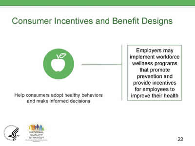 Slide 22. Consumer Incentives and Benefit Designs.