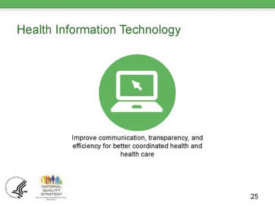 Slide 25. Health Information Technology.