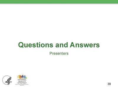 Slide 39. Questions and Answers.