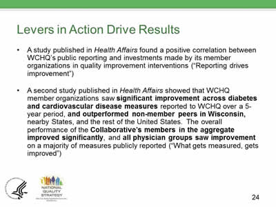 Slide 24. Levers in Action Drive Results.