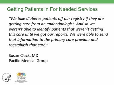 Slide 34. Getting Patients In For Needed Services.