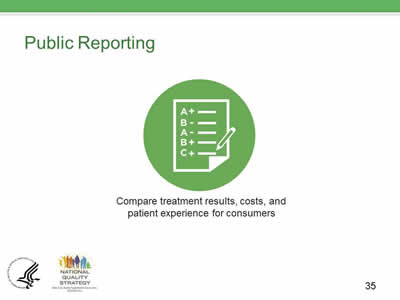 Slide 35. Public Reporting.