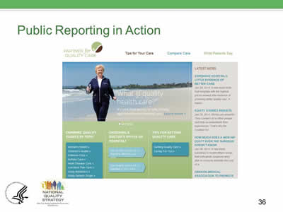 Slide 36. Public Reporting in Action.