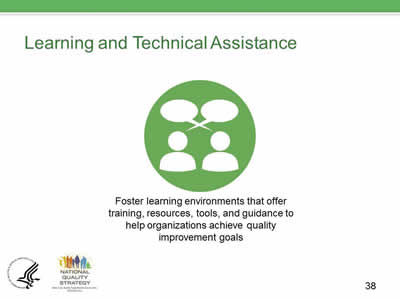 Slide 38. Learning and Technical Assistance.